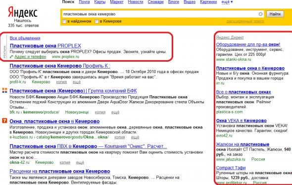 рекламы Яндекс.Директ