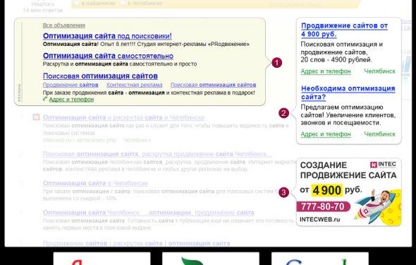 Контекстная реклама - Яндекс